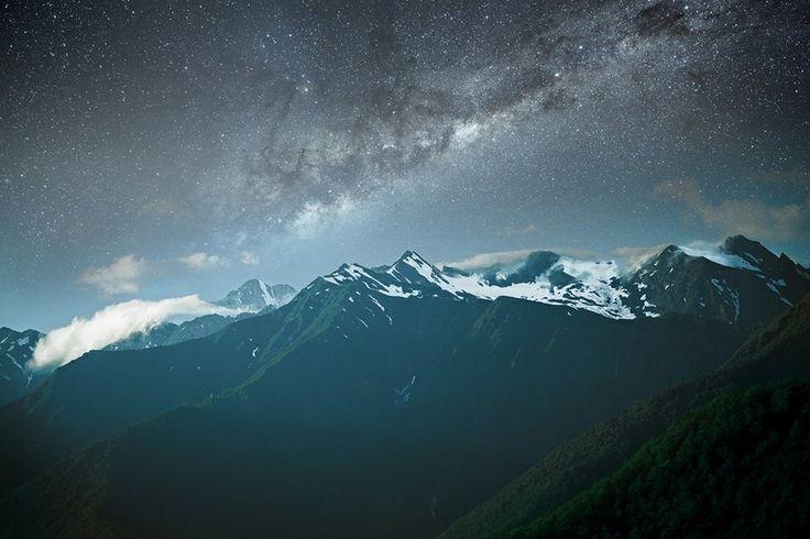 Caucasus at night