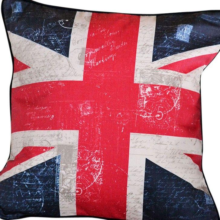 CUSHI   Vintage Union Jack Cushion #pillow #cushion #homedecor
