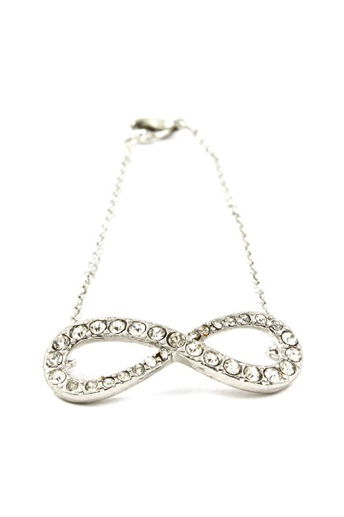 Silver Crystal Infinity Bracelet | Emma Stine Jewelry Bracelets
