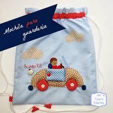 Resultado de imagen de adornar una mochila de tela para niña