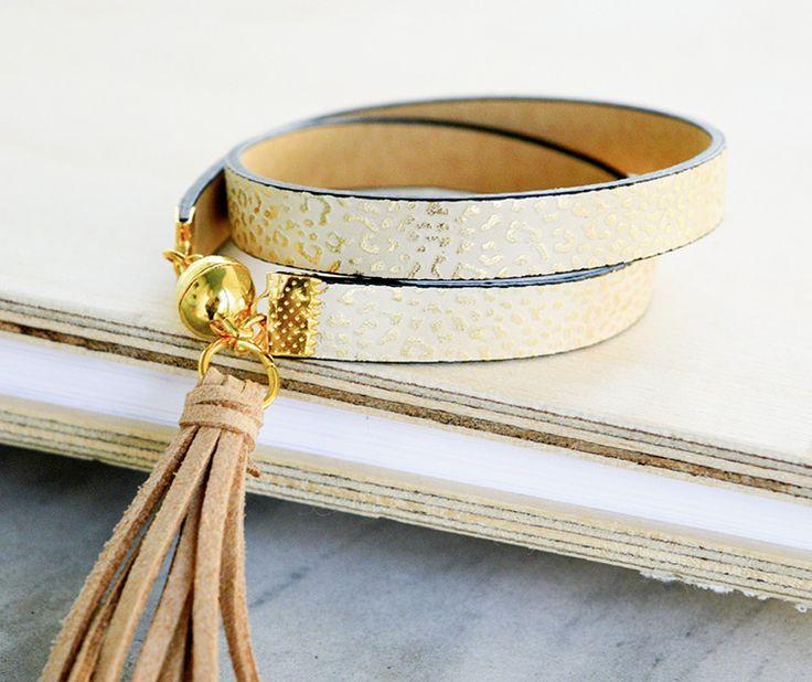 #Tutoriel DIY: Faire un #bracelet de cuir à pompon via DaWanda.com