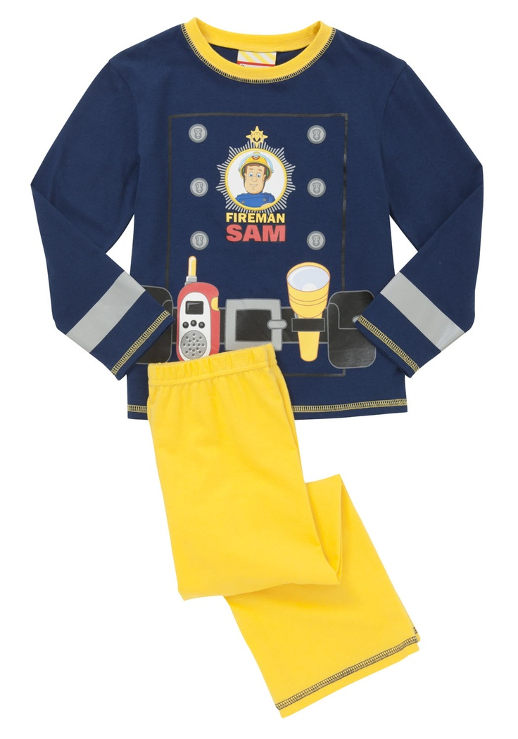 Fireman Sam costume pyjamas @Fellow Fellow Kempster thought Charlie would love these?!