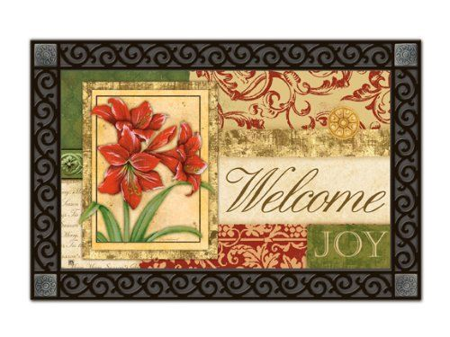 Amaryllis Tapestry Indoor Outdoor Doormat by Magnet Works. $19.99. PLEASE NOTE YOU ARE PURCHASING THEDOORMAT ONLY. THE PICTURE SHOWS THEDOORMAT PLACED IN THE DESIGNER DOORMAT FRAME WHICH IS SOLD SEPARATELY IN OUR STORE.THEDOORMAT CAN BE USED WITHOUT DOORMAT FRAME. Thisdoormat will look beautiful outside your home when placed inside our Designer Doormat Frame, or to show off your mat inside your home use our Comfort Mat to enhance the look of any room. (These ac...