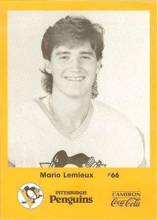 Mario Lemieux Kodak card from 1986