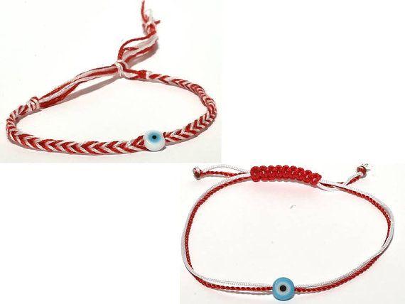 Handmade March bracelets by Frabala on Etsy