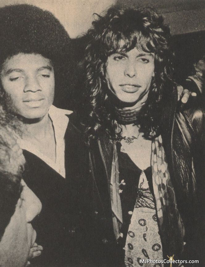 Michael Jackson  Steven Tyler (1977).  You wouldn't guess from this picture that Tyler outlived Jackson.