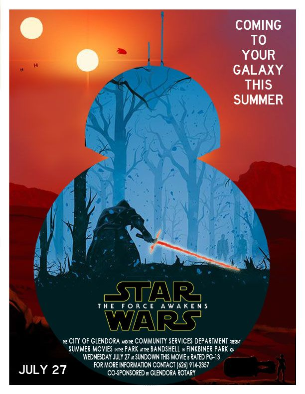 2016 Summer Movie in the Park | Star Wars The Force Awakens