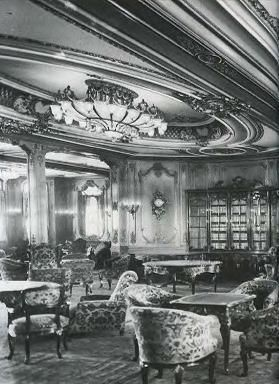 Titanic's 1st Class Library. Such a shame.