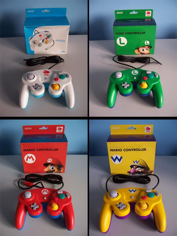Some cool Gamecube controllers that were only available through Japan's Club Nintendo. I want one!:)