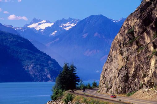 Sea-to-sky highway (drive from Vancouver to Whistler, BC) Canada