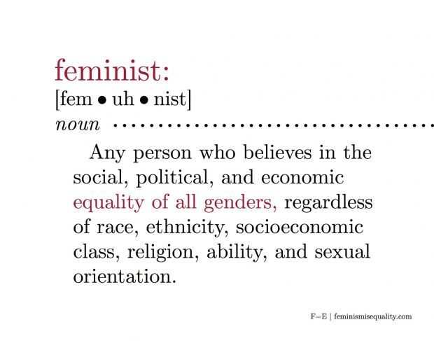"For all those who don't truly understand what this means. So many are ""feminist"" and don't know it. This is not a man-hating, extremist notion. This is about human rights."