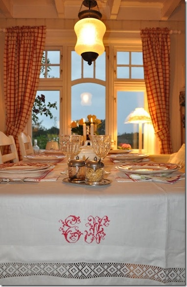 Monogramed Tableclothes