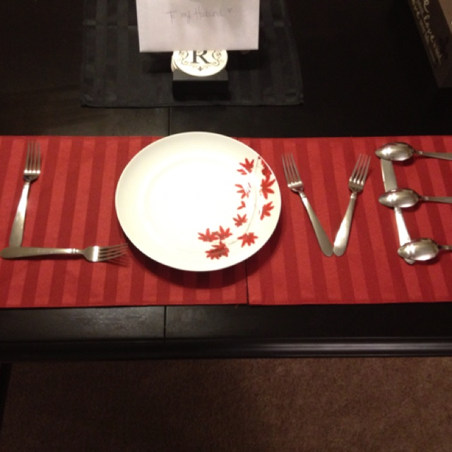 Simple Table Setting For Valentine Or Anniversary Dinner At Home