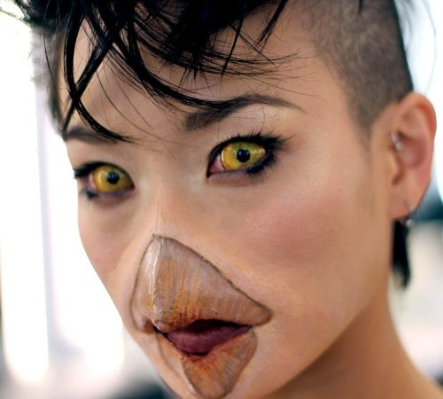 This FX makeup is so well done. I am really intrigued by the beak prosthetic and…