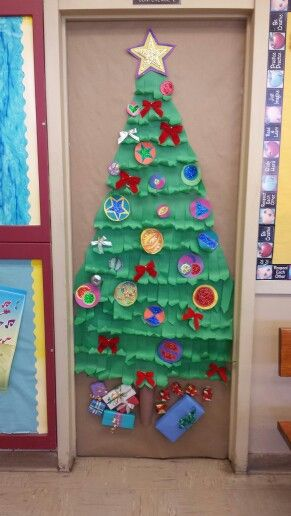 Tree Classroom Door Decoration ~ Christmas tree school door decoration fun