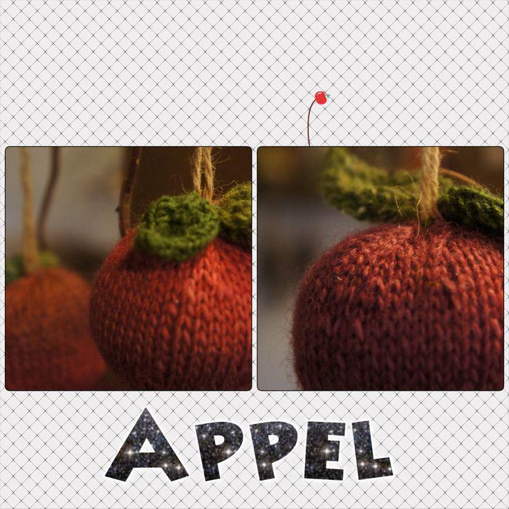 Strikkede æbler - appels...