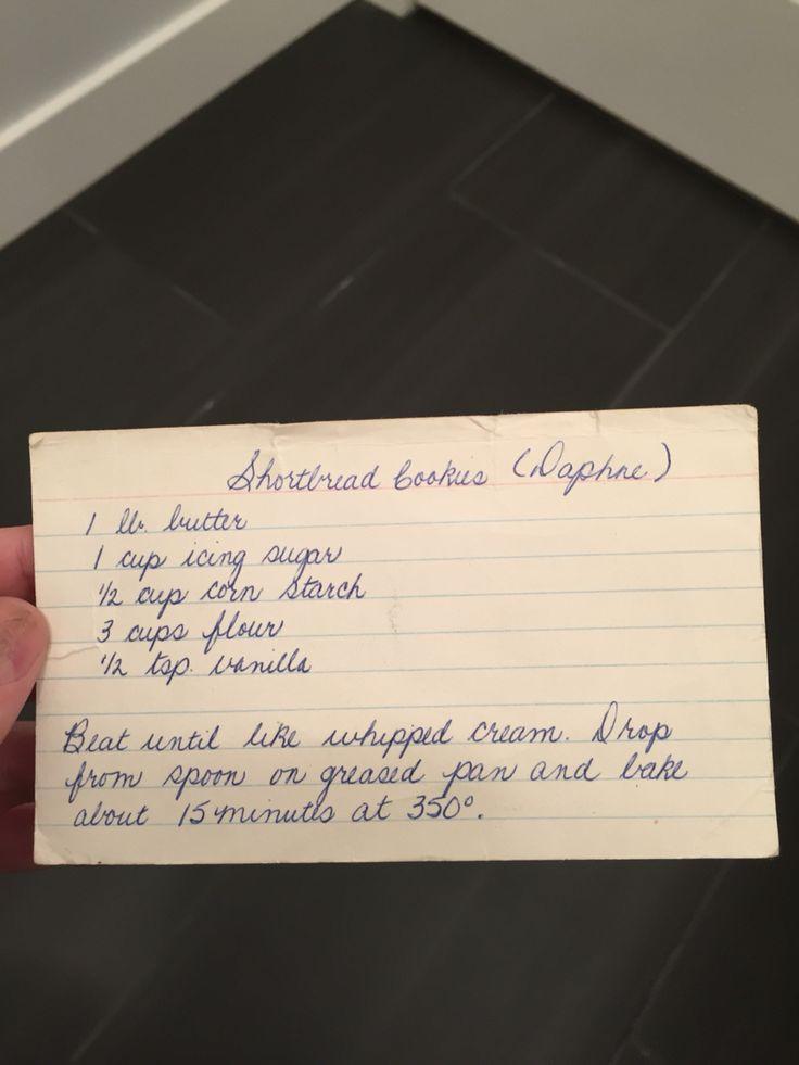 Marilyn's shortbread cookies
