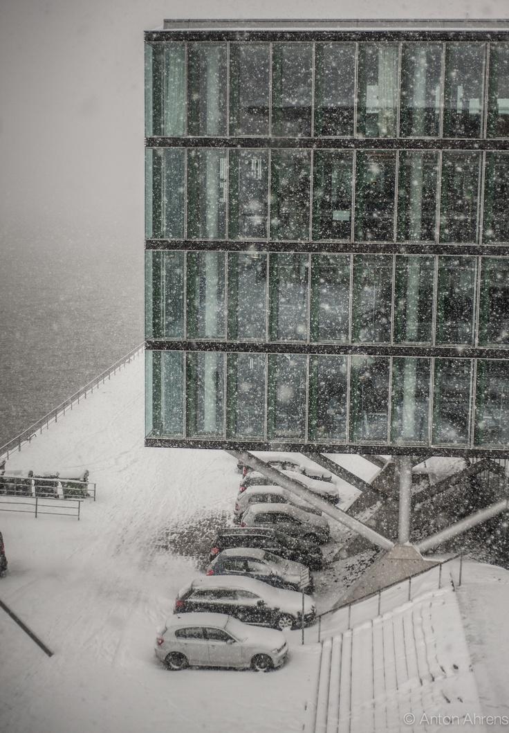Neumühlen im Schneefall