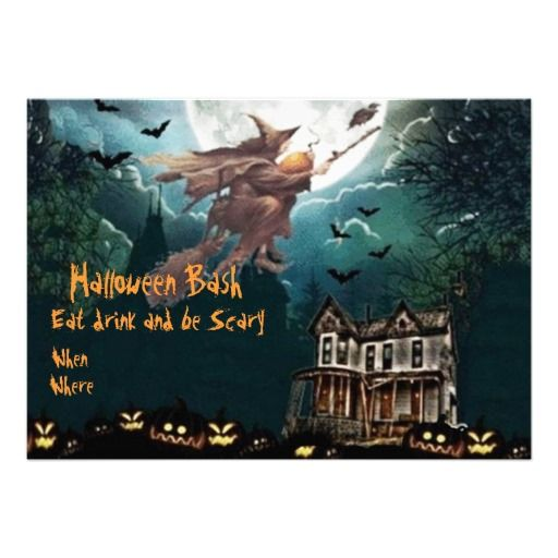 Halloween Bash Personalized Invites