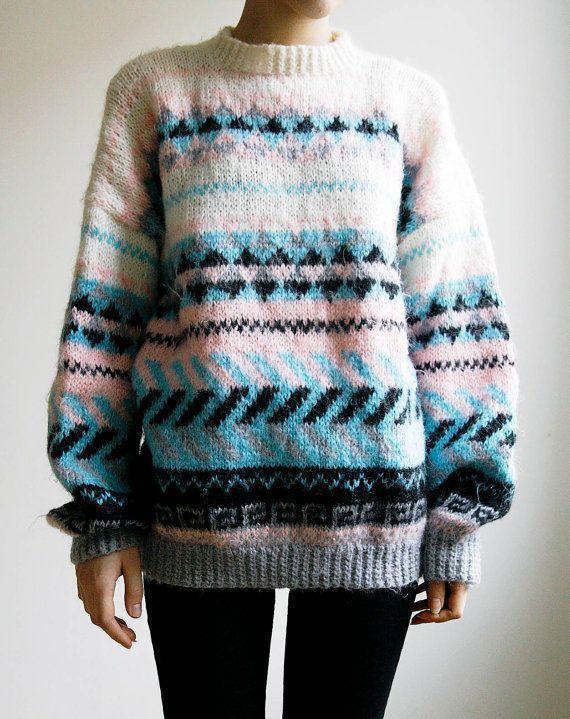 Hand Knitted Ski Sweater Southwestern Tribal by SmokingSaints