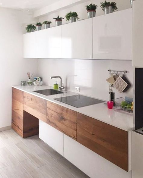 Love The Mix Of Wood And White Design Cucine Arredo Interni