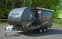 Camplite Ultra Lightweight All Aluminum Travel Trailers | Livin' Lite RV.  This was very well built. My wife said she could live with this one. The 14dbs was great.