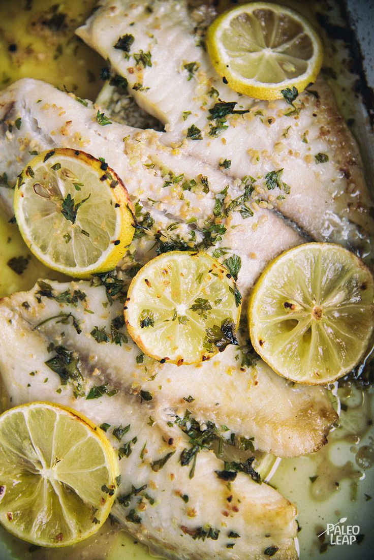 Need a quick and simple main course that is Paleo and impressive? This lemon garlic fish will meet your needs.