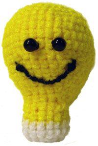 Amigurumi light bulb: Patterns 12 14, Bright Ideas, Funny Ideas, Patterns Lights, Free Patterns, Crochet Patterns