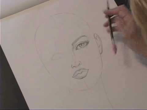 ▶ Otis Professor Kathryn Hagen: Drawing Female Heads - YouTube profile and face