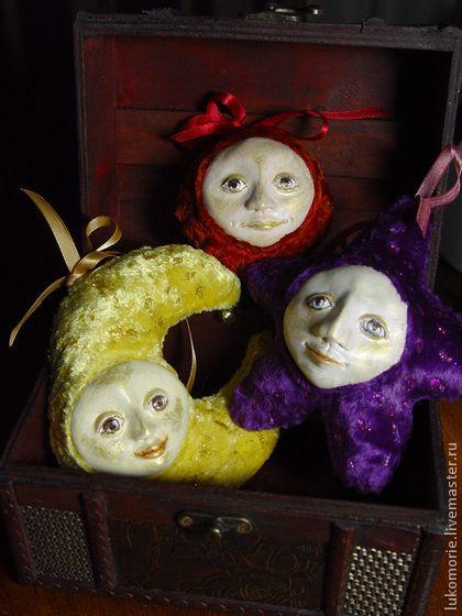Набор елочных игрушек «Небесные тела» - бежевый,елочные игрушки,елочные украшения