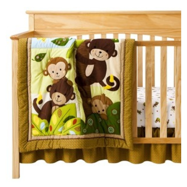 Curly Tails Monkey Crib Set From Target Com My Baby