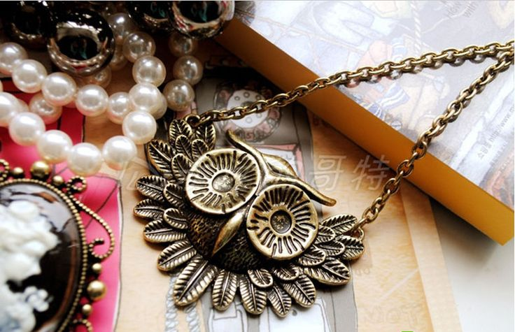 NEW Lovely Women Lady Vintage Owl Pendant Long Chain Necklace  C-89 #Pendant
