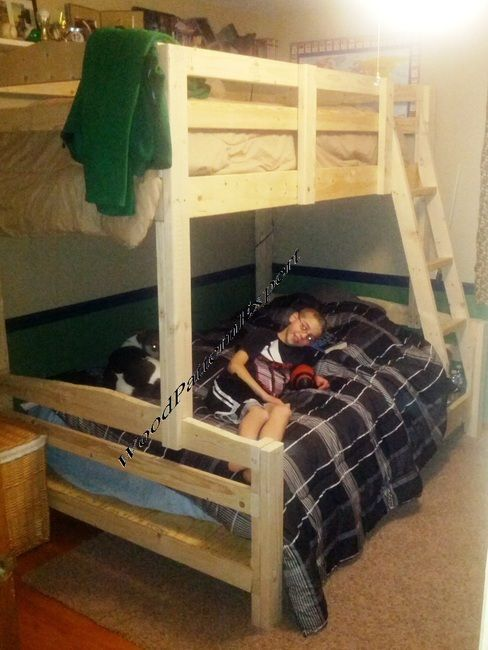 BUNK BED QUEEN OVER KING or FULL OVER QUEEN or TWIN OVER FULL PDF Download Plans SO YOU CAN GET IT NOW! Detailed Step By Step DIY Patterns SO EASY BEGINNERS LOOK LIKE EXPERTS by WoodPatternExpert; ProStore - WoodPatternExpert