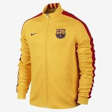 Men's Nike FC Barcelona Graphic Knit Soccer Jacket Yellow 689953-739 (M)