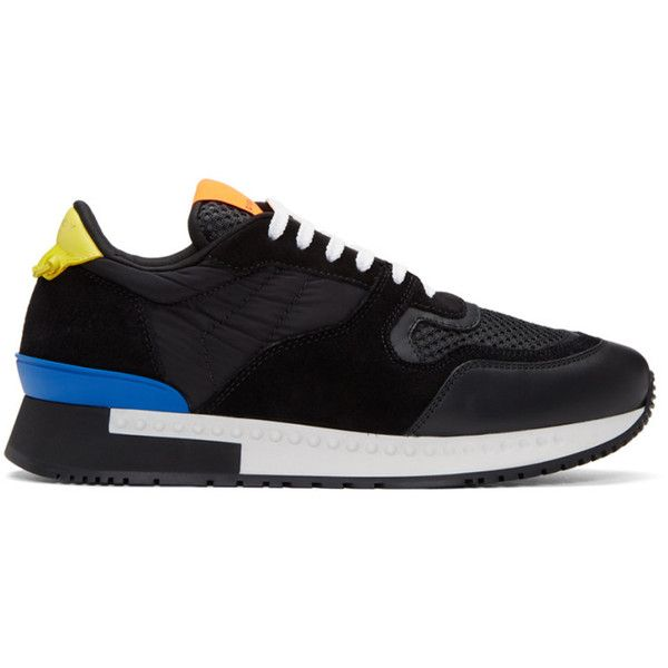 Givenchy Black Runner Active Sneakers (2.060 BRL) ❤ liked on Polyvore featuring men's fashion, men's shoes, men's sneakers, black, mens lace up shoes, mens black sneakers, givenchy mens sneakers, mens round toe shoes and mens black shoes