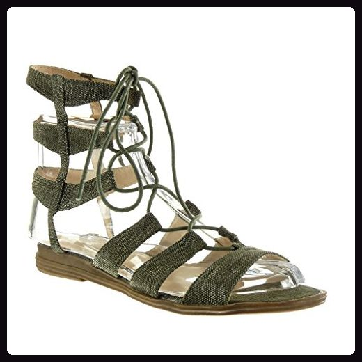Angkorly Damen Schuhe Sandalen - Römersandalen - Sexy - Bestickt - Multi-Zaum Blockabsatz 2 cm - Gold 2015-903 T 36 G2CVeRLB