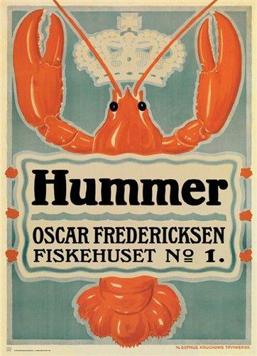 Plakat, Hummer 1917, inkl. ramme