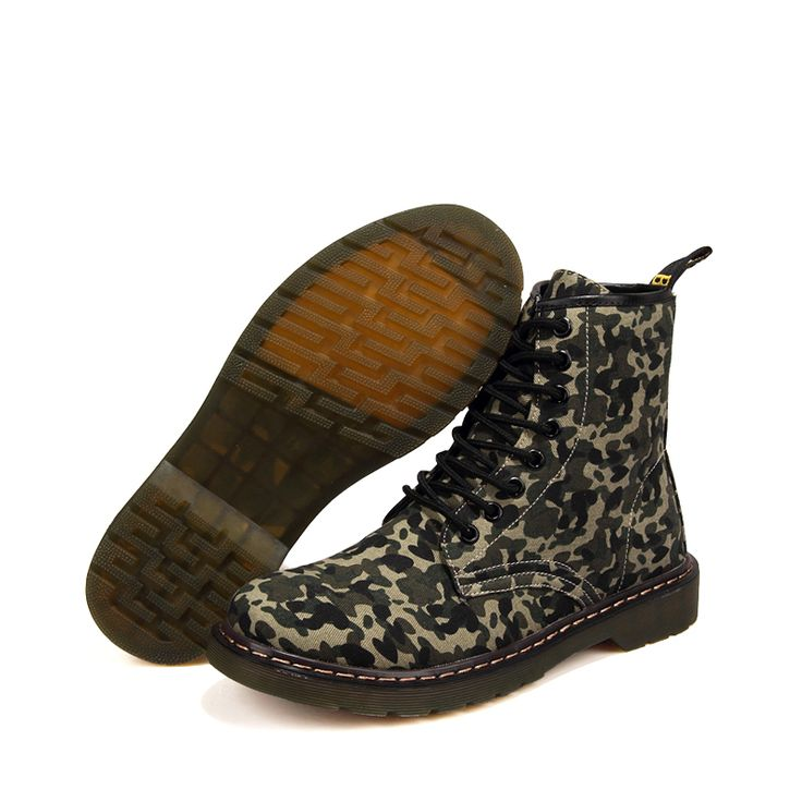 Camouflage Canvas Ankle Boots Autumn/Winter Women/Men Army Boots Outdoor Martin Botas Cowboy Boots Shoes(China (Mainland))