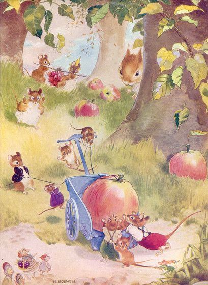 Illustration by Hilda Boswell, from Enid Blyton's Poppy Story Book.