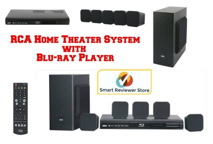 RCA 5.1 Home Theater System 200W w/ Blu-ray Player Surround Sound Speakers WiFi #RCA