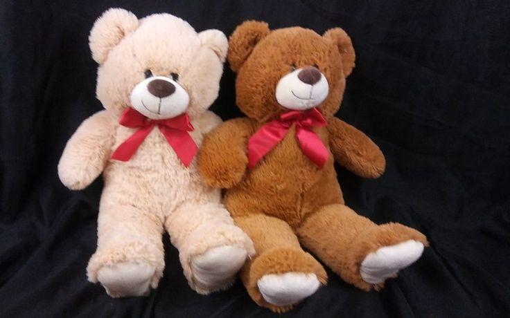 Lot of Two Plush Teddy Bears Stuffed Toy #Kellytoy #teddybear #plush
