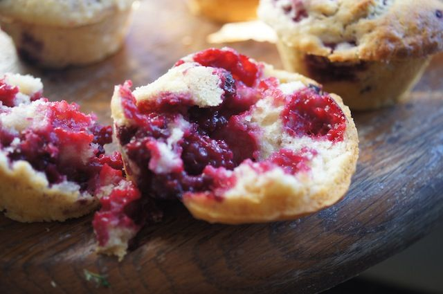 Lemon Berry Muffins for the morning! breakfast, food, I love fruit, how can you say no?
