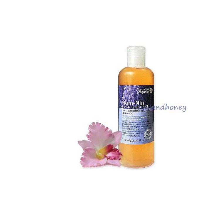 Натуральный шампунь против выпадения волос с уникальной формулой на основе черного пурпурного риса с гамма оризанолом и витаминами группы В, Hom-Nin Black Purpure Rice.  Гамма-оризанол - масляный экстракт, получаемый из рисовых отрубей, является мощнейшим антиоксидантом. Одно из исследований показало, что он примерно в десять раз сильнее и эффективнее витамина Е борется со свободными радикалами.