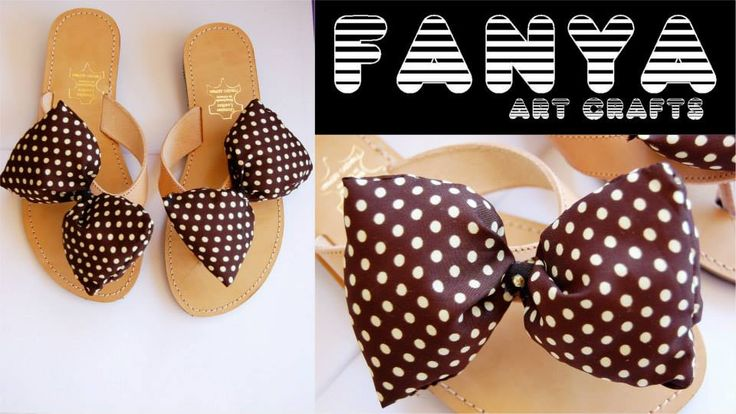 handmade sandals with fabric bow