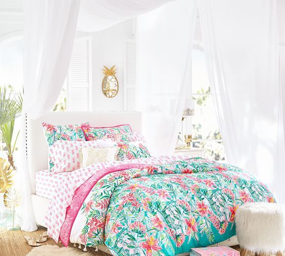 Lilly Pulitzer Jungle Lilly Percale Duvet Cover Shams In 2020