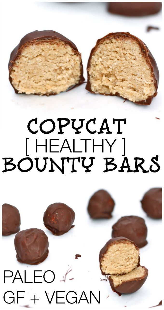 Copycat (HEALTHY!) Bounty Bars- An all time favourite chocolate bar given a healthy makeover tasting even better than the original- Gluten Free, Vegan and completely Paleo- A sinfully nutritious treat! #glutenfree #paleo #grainfree #vegan