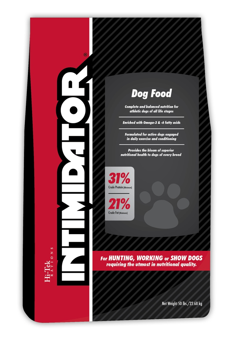 Our Intimidator dog food comes in several different SKUs not posted here. Visit the website to see the rest of them.