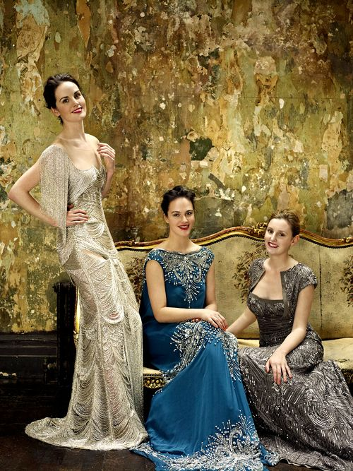 The Downton sisters are absolutely stunning! And their dresses <33