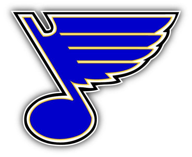 St Louis Blues NHL Hockey Symbol Logo Car Bumper Sticker Decal 5 x 4