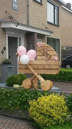 Geboortebord van pallethout voor mijn dochter Lola! Is over 2 weken te koop